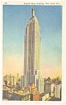 Empire State Building New York City Postcard p11980