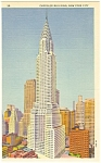 Click here to enlarge image and see more about item p11983: Chrysler Building,New York City Postcard