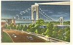 George Washington Bridge New York City Postcard p11997