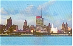 Chicago IL Skyline at Night Postcard