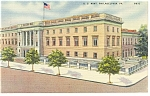 Philadelphia ,PA, US Mint Linen Postcard 1944