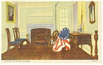 Philadelphia PA Betsy Ross House Interior Postcard p12066