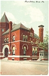 York ,PA, Post Office  Postcard