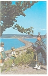 Click here to enlarge image and see more about item p12100: Bagpipers at Cape Breton Island Postcard