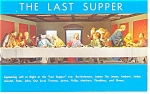 Click here to enlarge image and see more about item p12122: The Last Supper Gatlinburg TN Postcard p12122