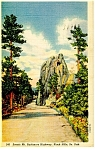 Mt Rushmore Highway SD Postcard p12126 1943