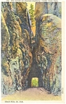 Big Tunnel on Needles Highway SD Postcard p12129