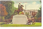 Washington, DC, Jackson Statue Postcard 1910