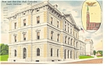 Click here to enlarge image and see more about item p12215: Columbia SC New and Old City Hall Postcard p12215 1960