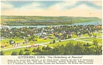 Click here to enlarge image and see more about item p12226: Guttenberg, Iowa Postcard 1938