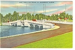St Petersburg, FL, Snell Isle Bridge Postcard 1946
