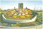 Click here to enlarge image and see more about item p12243: Ontario Hydro Floral Clock Postcard