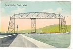 Click here to enlarge image and see more about item p12278: Duluth, MN Aerial Bridge Postcard 1913