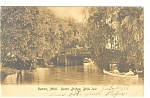 Detroit, MI , Belle Rustic Bridge Postcard 1906