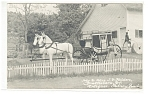 Click here to enlarge image and see more about item p12303: Brattleboro, VT, Antique Stage Coach Postcard