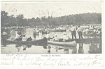 Click here to enlarge image and see more about item p12304: Boston, MA Canoeing on the Charles Postcard 1907