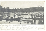 Click here to enlarge image and see more about item p12305: Boston, Mass Canoeing on the Charles Postcard 1907