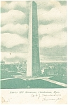 Charlestown, MA Bunker Hill Monument Postcard 1907