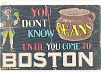Click here to enlarge image and see more about item p12311: You Don't Know Beans Postcard 1911