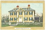 Cambridge MA Longfellow's Home Postcard 1911