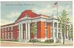 US Post Office,Winchester, VA,  Postcard
