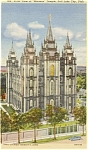 Mormon Temple Salt Lake City UT Postcard p1234