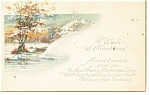 A Wish at Christmas Vintage Postcard