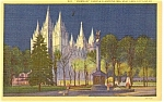 Salt Lake Utah Mormon Temple  Postcard p1235