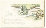 A Happy Christmas ,Vintage Postcard