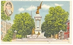 Click here to enlarge image and see more about item p12380: Baltimore MD Francis Scott Key Monument Postcard p12380
