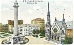 Click here to enlarge image and see more about item p12382: Baltimore MD MT Vernon ME Church Postcard p12382 1916