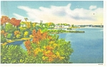 Click here to enlarge image and see more about item p12386: Bangor ME Penobscot River Postcard p12386