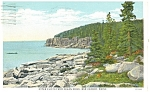 Click here to enlarge image and see more about item p12388: Bangor ME Otter Cliffs Postcard p12388 1931