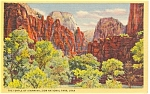 Temple of Sinawava Zion National Park Utah Postcard p1240