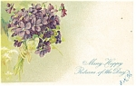 Happy Returns Postcard Violets 1907