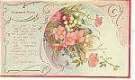 Language of Flowers Postcard Poem C Preston Wynne
