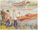 Click here to enlarge image and see more about item p12440: Oarsmen at Chatou Renoir Postcard p12440