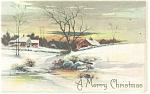 Christmas Postcard Snowy Farm Scene 1909