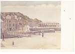 Artwork Port en Bessin, Seurat Postcard p12521