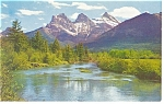 Click here to enlarge image and see more about item p12531: Three Sisters Banff National Park Canada Postcard p12531