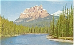 Click here to enlarge image and see more about item p12532: Mt Eisenhower,Banff National Park, Canada Postcard