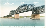 Click here to enlarge image and see more about item p12535: Canadian Pacific Railway Bridge Postcard 1931 p12535