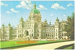 Click here to enlarge image and see more about item p12536: Victoria BC Canada Parliament Buildings Postcard p12536