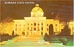 Click here to enlarge image and see more about item p1253: Alabama State Capitol at Night Postcard