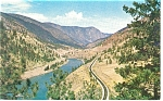 Click here to enlarge image and see more about item p12552: Fraser Canyon, BC, Canada Postcard