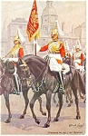 Click here to enlarge image and see more about item p12557: Standard of the Life Guards Postcard