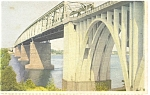 Click here to enlarge image and see more about item p12560: Lillebaeltsbroen, Denmark Bridge Postcard