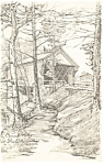 Covered Bridge,Old Sturbridge Village, MA Postcard