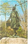 Click here to enlarge image and see more about item p12577: Jamestown, VA, Pocahontas Statue Postcard 1973
