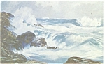 Click here to enlarge image and see more about item p12587: Pacfic Mood, Ocean Scene Artwork Postcard